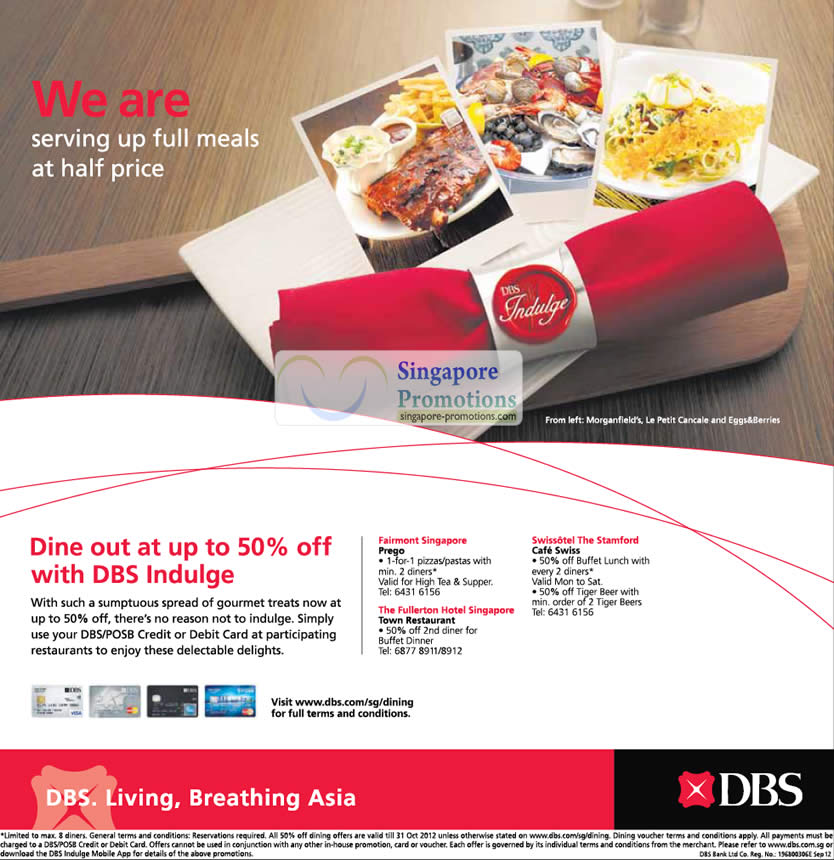 Dine out at 50 Percent Off