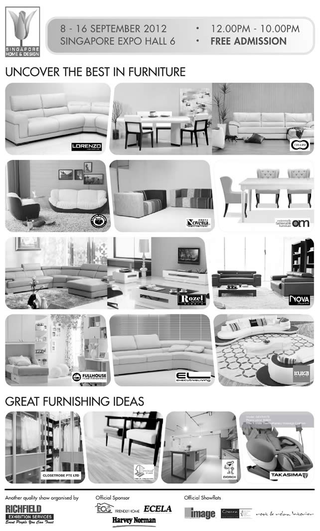 Furnishing Exhibitors, Cellini, Lorenzo, Rozel, Nova, OM, Novena