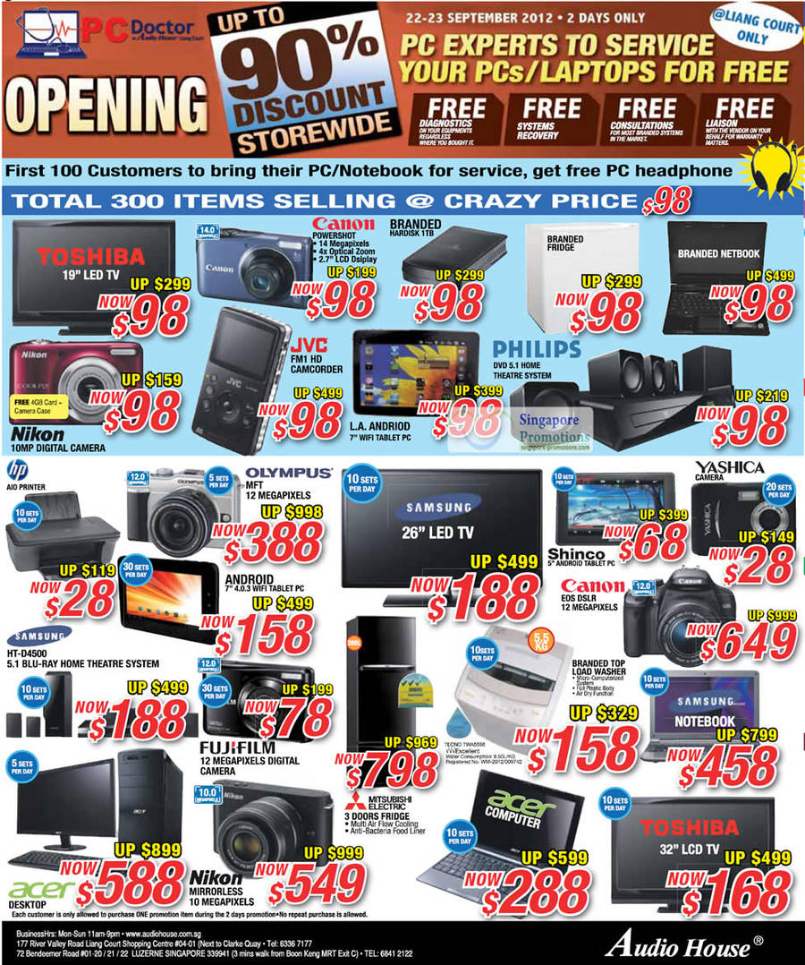 JVC GC-FM1 CAMCORDER, Samsung HT-D4500 BLU-RAY Home Theatre System, TECNO TWA5598 Washer