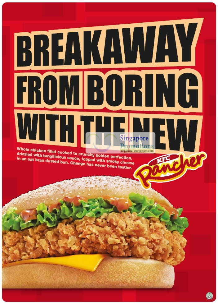 KFC New Rancher Burger