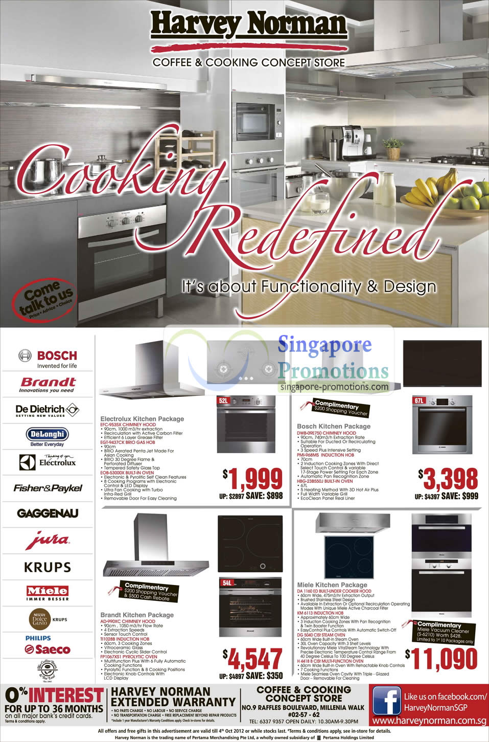 Kitchen Packages Electrolux Bosch Brandt Miele Harvey Norman Digital Cameras Furniture