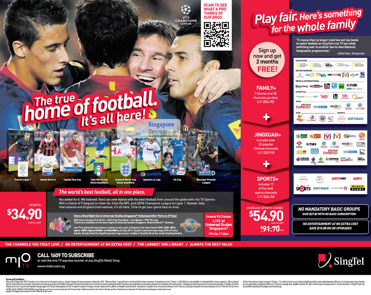 Mio TV Sports Plus Pack, 2 Months Free Jingxuan Sports Combo