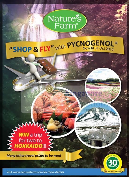 Natures Farm Promotions Offers Shop and Fly with Pycnogenol