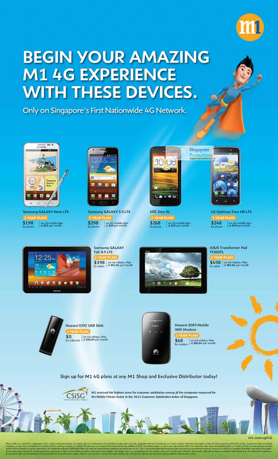 Samsung Galaxy Note LTE, Samsung Galaxy S II LTE, Samsung Galaxy Tab 8.9 LTE, HTC One XL, LG Optimus True HD LTE, ASUS Transformer Pad TF300TL