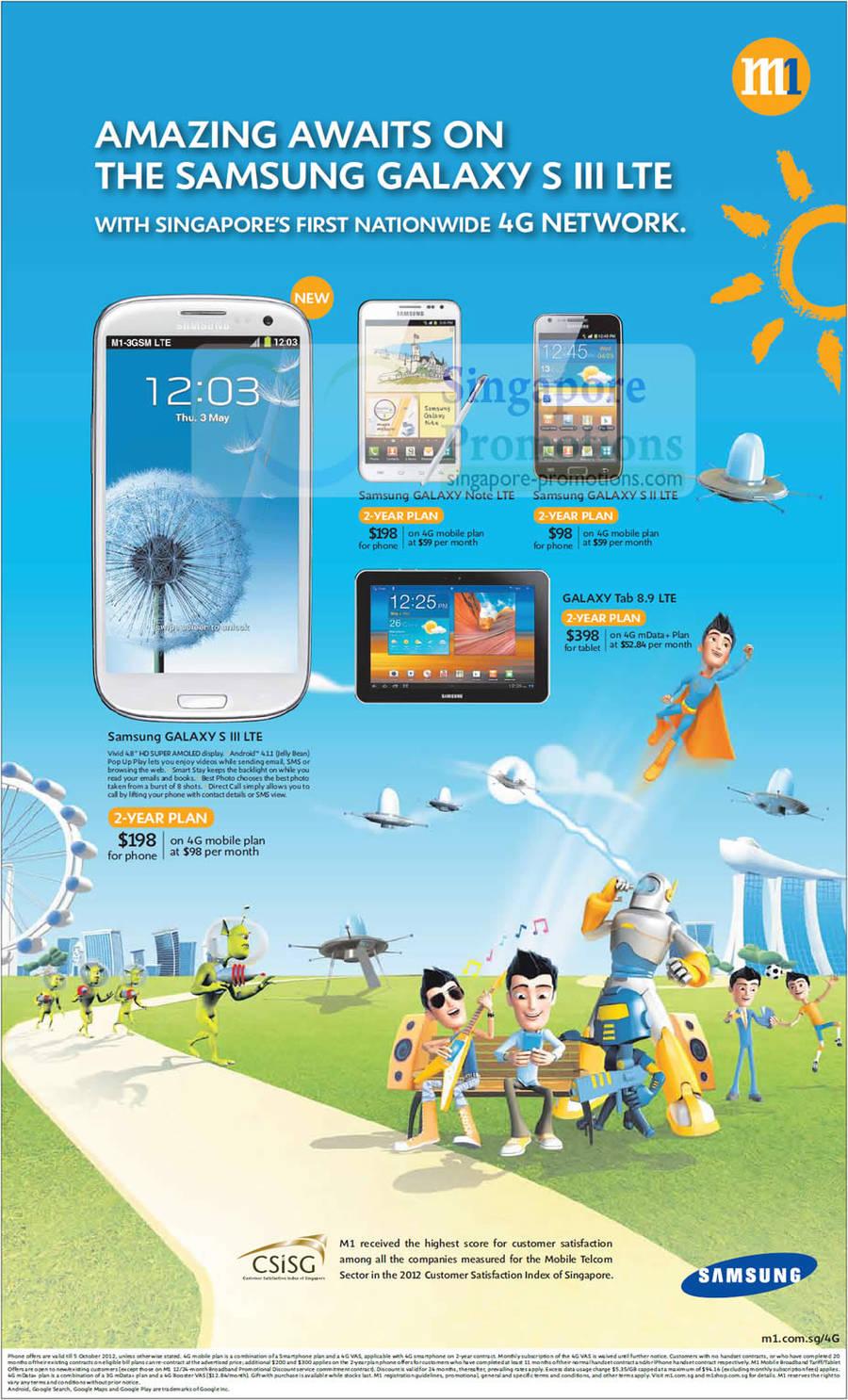 Samsung Galaxy S III LTE, Samsung Galaxy Note LTE, Samsung Galaxy S II LTE, Samsung Galaxy Tab 8.9 LTE