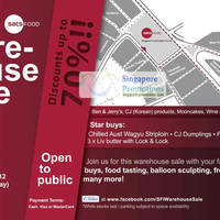 Read more about Singapore Food Industries Warehouse Sale Up To 70% Off 22 - 23 Sep 2012