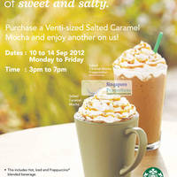 Read more about Starbucks Singapore Salted Caramel Mocha 1 For 1 Promotion 10 - 14 Sep 2012