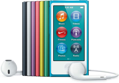 iPod Nano 7th Gen All Colours