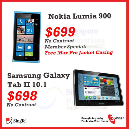 3Mobile Nokia Lumia 900, Samsung Galaxy Tab 2 10.1