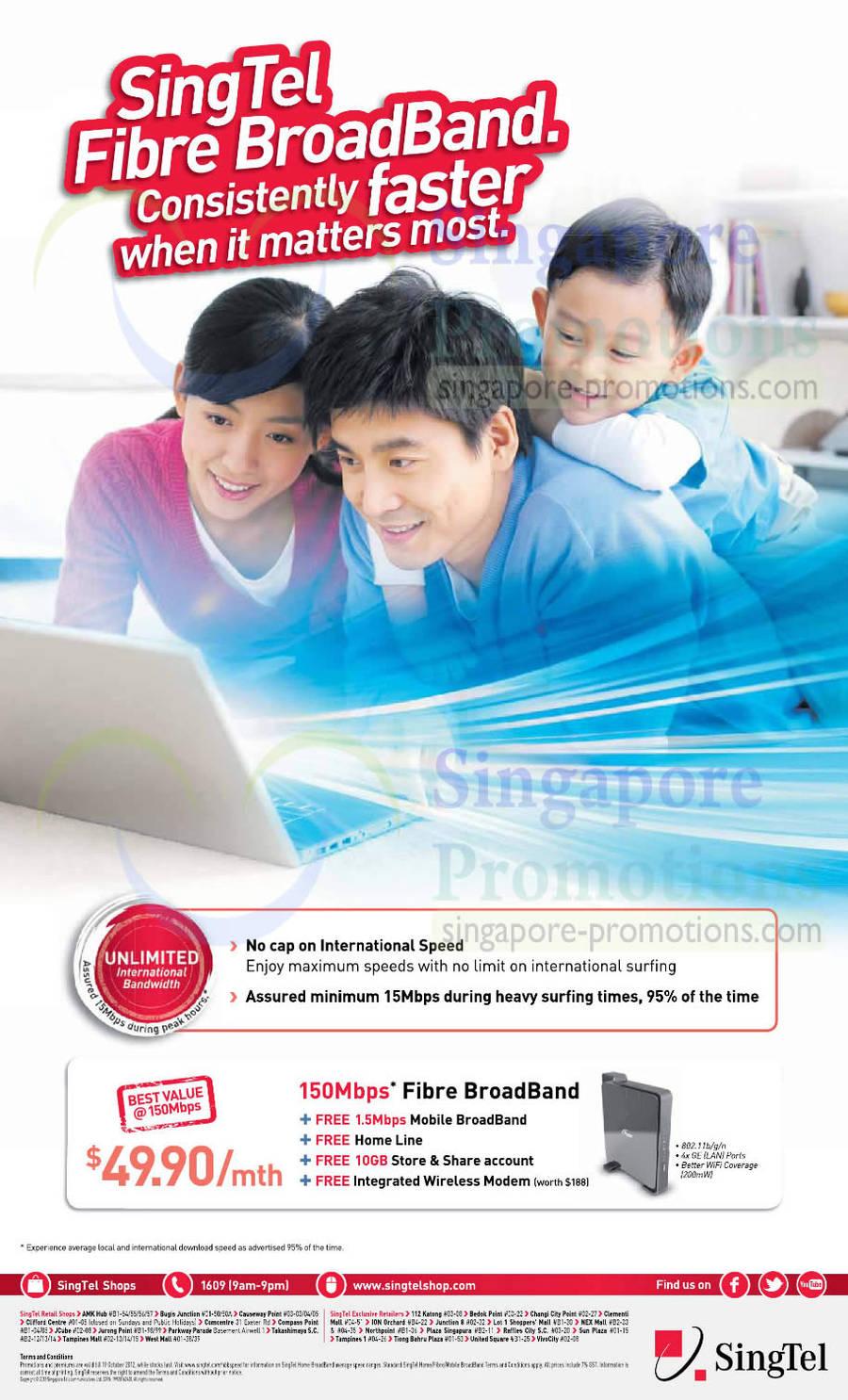 49.90 150Mbps Fibre Broadband