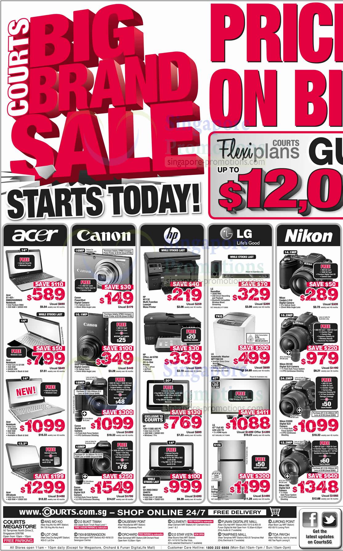 Acer E1-431-B9802G50MNKS Notebook, Canon IXUS 240HS Digital Camera, Canon EOS 60D SLR Digital Camera, HP LaserJet Pro M1132 Printer, HP OfficeJet 6700 Printer, HP 120-1130D AIO Desktop PC, HP G4-2002Notebook, HP G4-2003 Notebook, HP G4-2040TX Notebook, Nikon Coolpix L310 Digital Camera, LG WFT7061DD Washer, Nikon D5100 DSLR Digital Camera, Nikon D3200 DSLR Digital Camera, Nikon D90 DSLR Digital Camera, Sony NEX-5N Digital Camera
