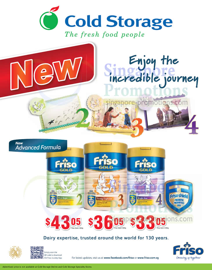 Friso Gold 2 Follow-on Formula, Friso Gold 3 Follow-on Formula, Friso Gold 4 Follow-on Formula
