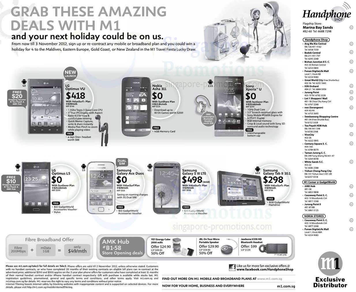 Handphone Shop LG Optimus Vu, L5, Nokia Asha 311, Sony Xperia U, Samsung Galaxy Ace Duos, S III LTE, Tab 2 10.1
