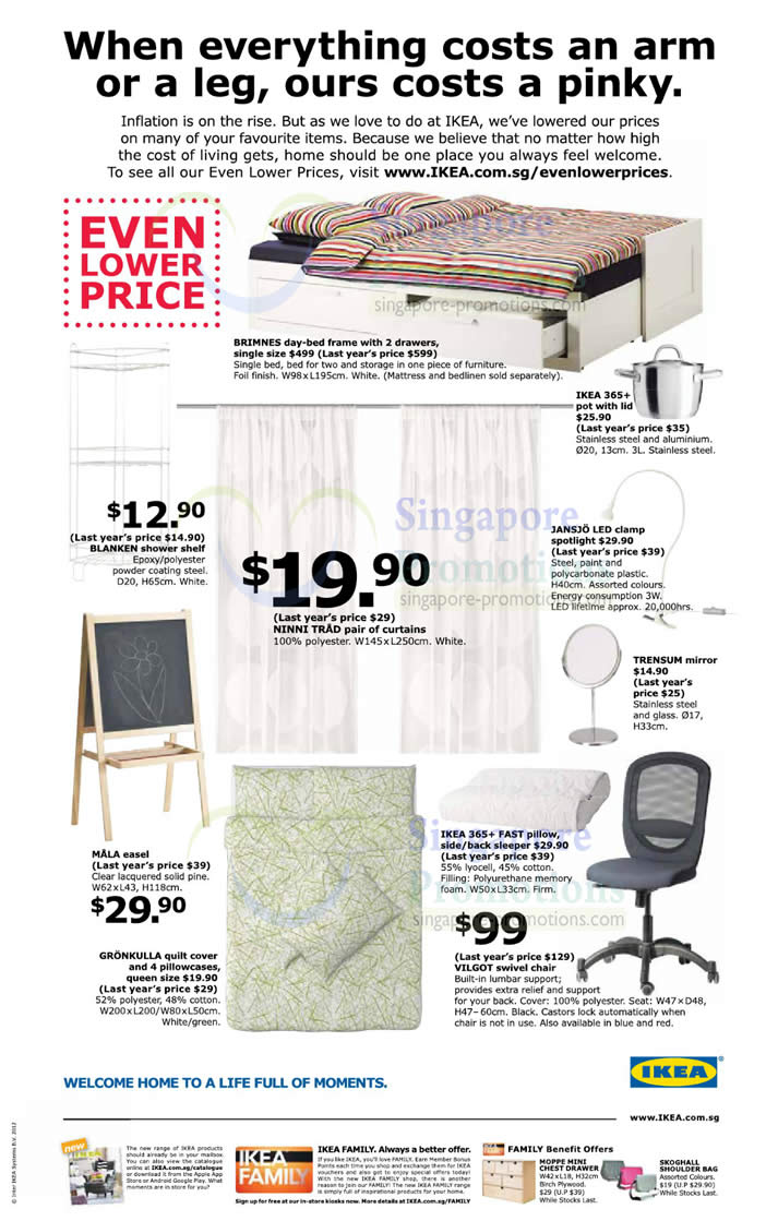 Ikea new even lower price items 11 oct 2012 for Coupon mobile ikea