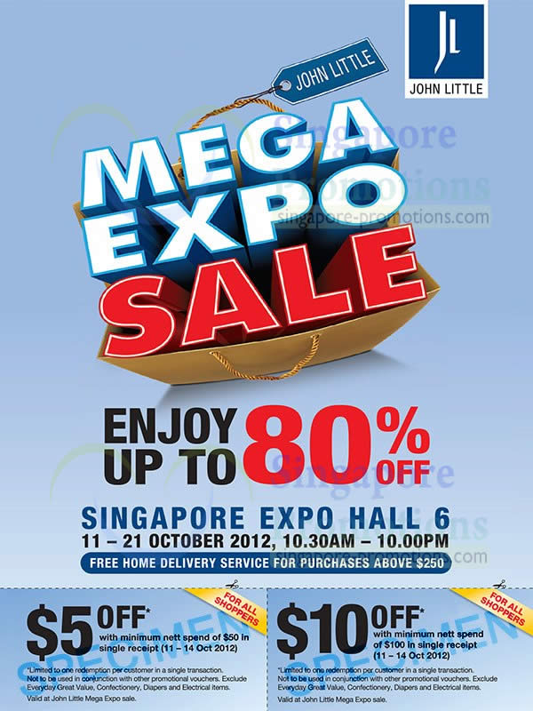 John Little Mega Expo Sale Details