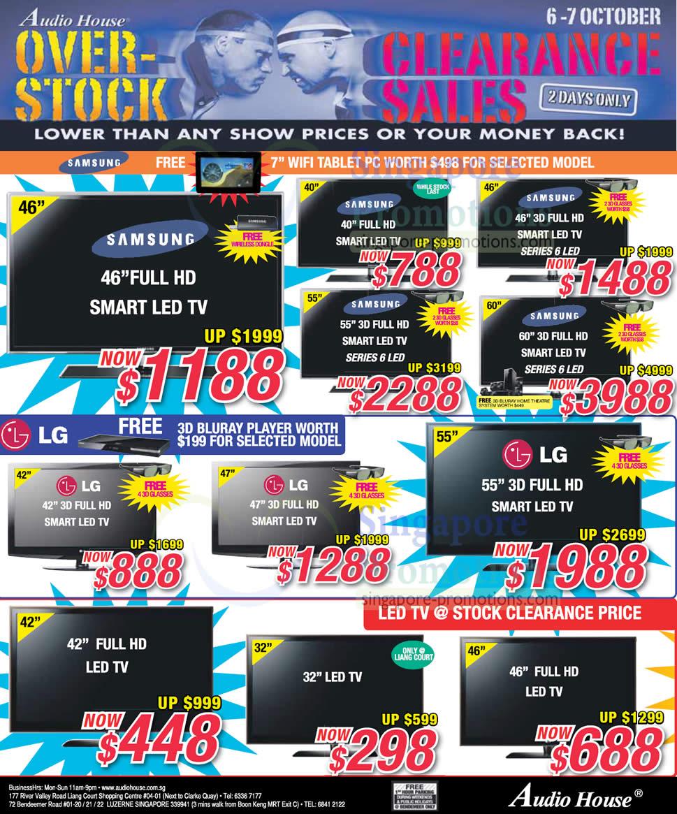 LED TVs, Samsung, LG