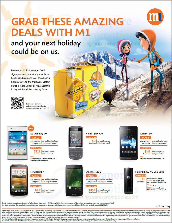 LG Optimus VU, Nokia Asha 300, Sony Xperia Go, HTC Desire X, Sharp SH530U