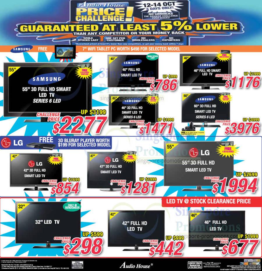 Samsung LED TVs, LG