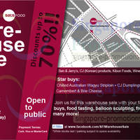 Read more about Singapore Food Industries Warehouse Sale Up To 70% Off 20 - 21 Oct 2012