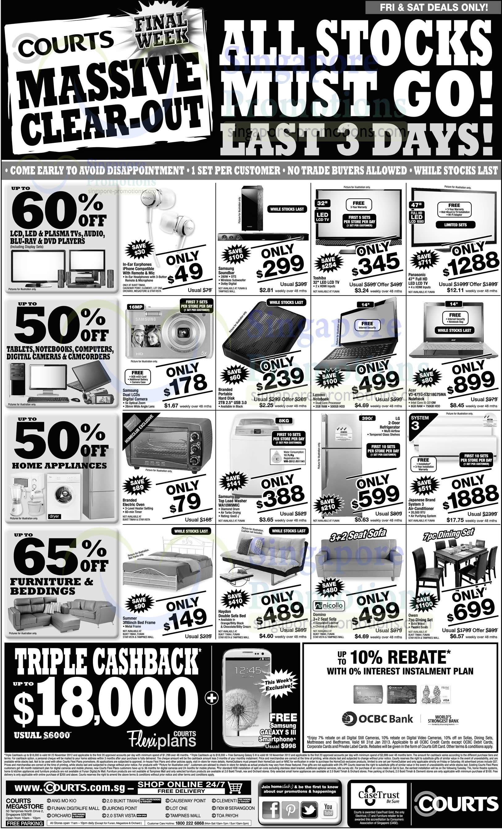 Acer V3-471G-53218G75MA Notebook, Samsung WA10W9MIC Washer, Nicollo Domino Sofa