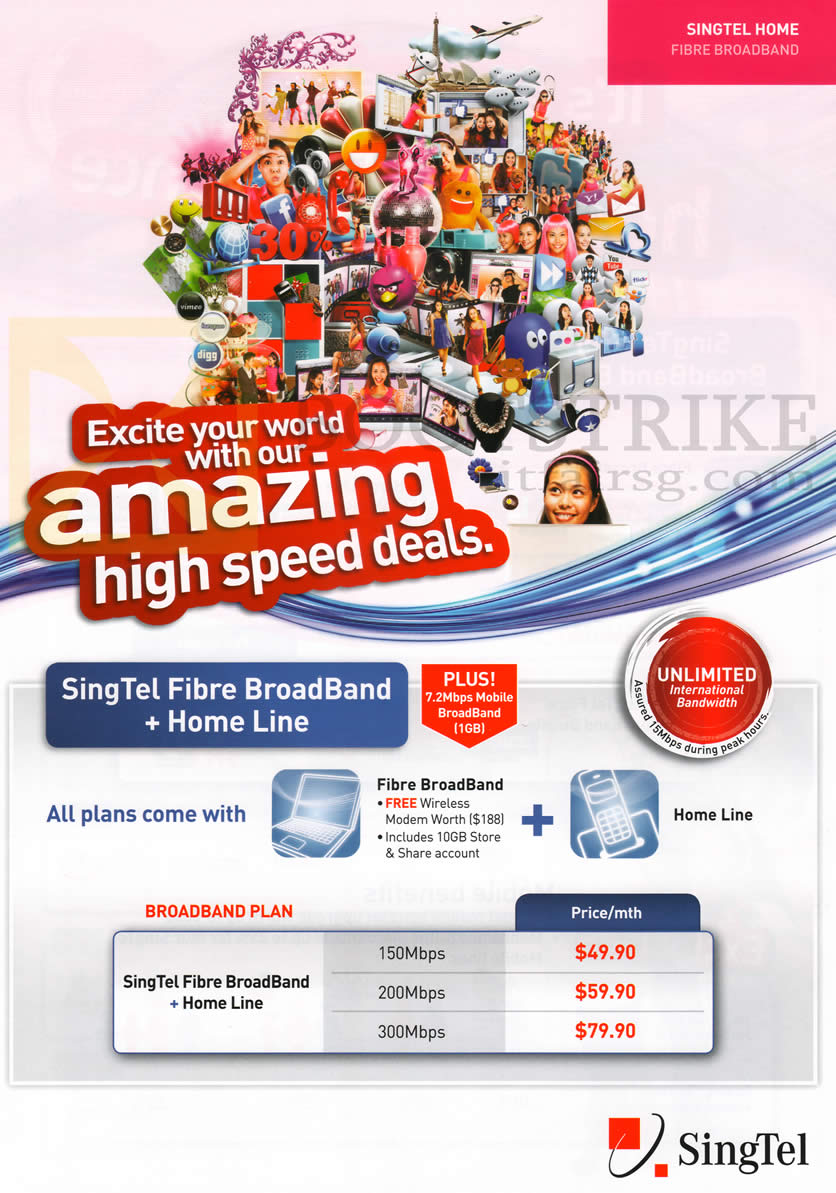Broadband Fibre, Fixed Line 150Mbps, 200Mbps, 300Mbps, Mobile Broadband