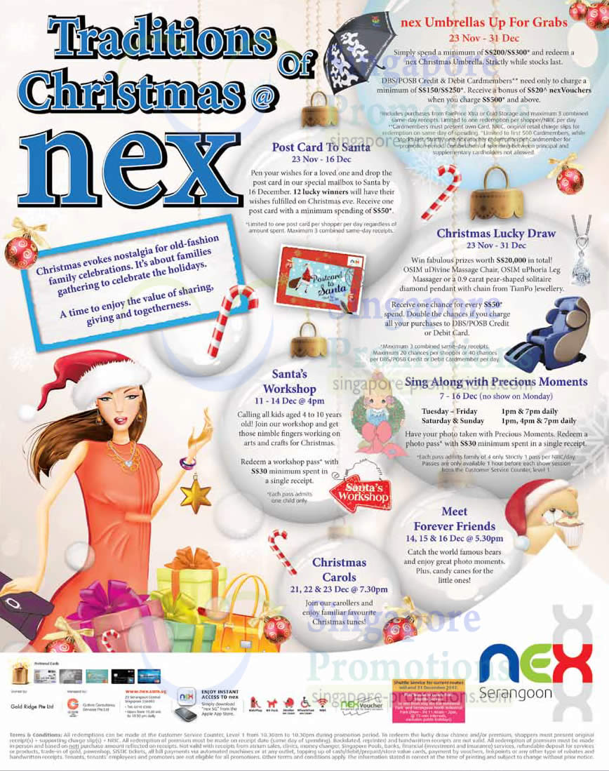 Christmas Special Events at Nex