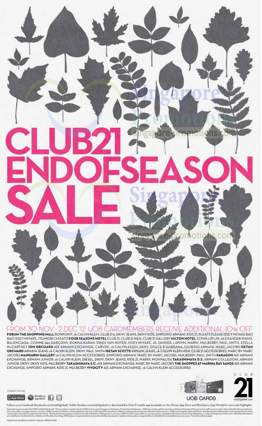 Club 21 End of Season Sale