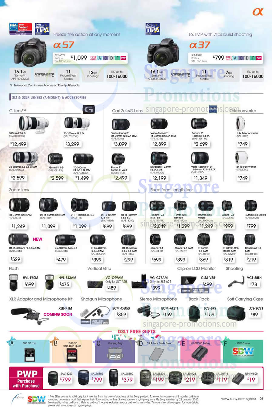 Camera Sony Dslr Camera Price List dslr digital camera slt a57k a37k sony days 2012 gst a37k