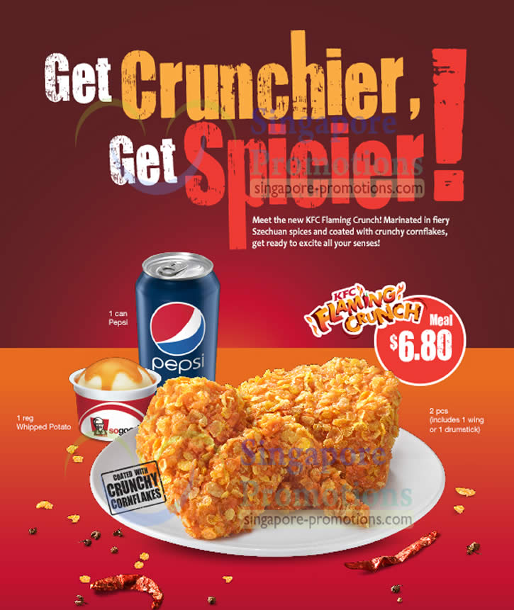 Delivery Flaming Crunch Meal, 2 pcs, 1 Pepsi, 1 Whipped Potato