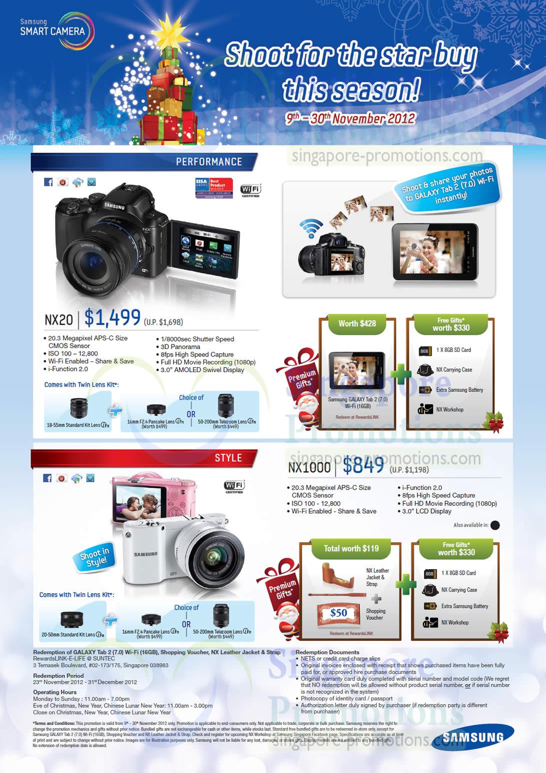 Digital Cameras NX20, NX1000