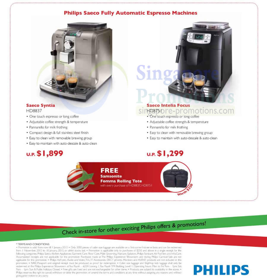 hd8837 coffee machine hd8751 philips household christmas promotion price list offers 7 nov. Black Bedroom Furniture Sets. Home Design Ideas