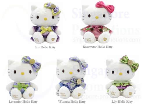 Lavender Hello Kitty, Lily, Wisteria, Iris, Rosewater