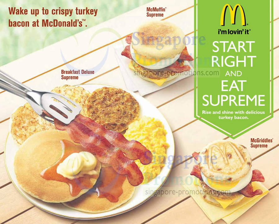 McDonald's Breakfast Supreme With Turkey Bacon 18 Nov 2012