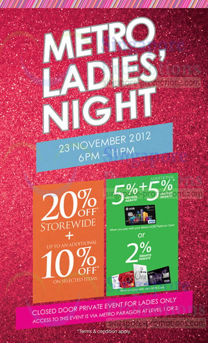 Metro Ladies Night Cover Page