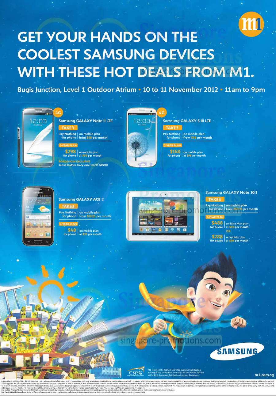 Samsung Galaxy Note II LTE, Samsung Galaxy S III LTE, Samsung Galaxy Ace 2, Samsung Galaxy Note 10.1