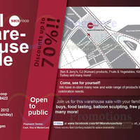 Read more about Singapore Food Industries Warehouse Sale Up To 70% Off 10 - 11 Nov 2012