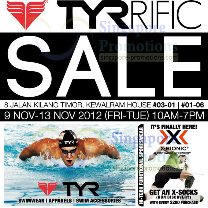 TYRRific Sale Venue, Time