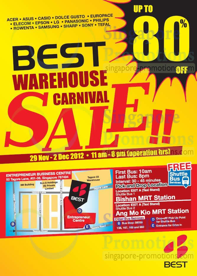 Warehouse Carnival Sale Location, Shuttle Buses