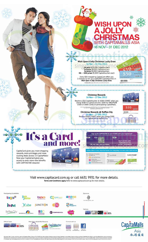Wish upon a jolly Christmas, Capitacard Reward Details