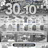Read more about World of Sports 10% Off Selected Items Promotion @ Selected Outlets 9 - 15 Nov 2012