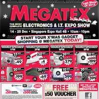 Read more about Megatex 2012 (14 Dec) Electronics & IT Expo Show @ Singapore Expo 14 - 25 Dec 2012