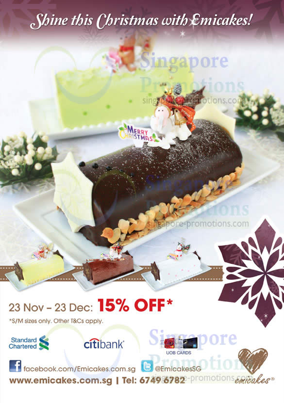 15 Percent Off Log Cakes Till 23 Dec