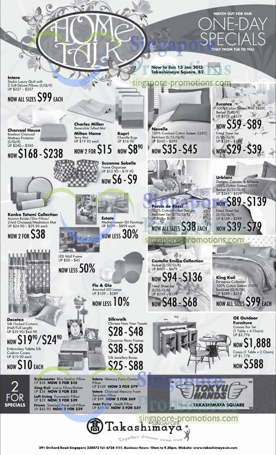 4 Jan Intero Studio Luxury Quilt, Charcoal House Mattress Protector, Kenko Tatami Autumn Bolster, Kenko Tatami Slim Pillow, Kenko Tatami Autumn Bolster