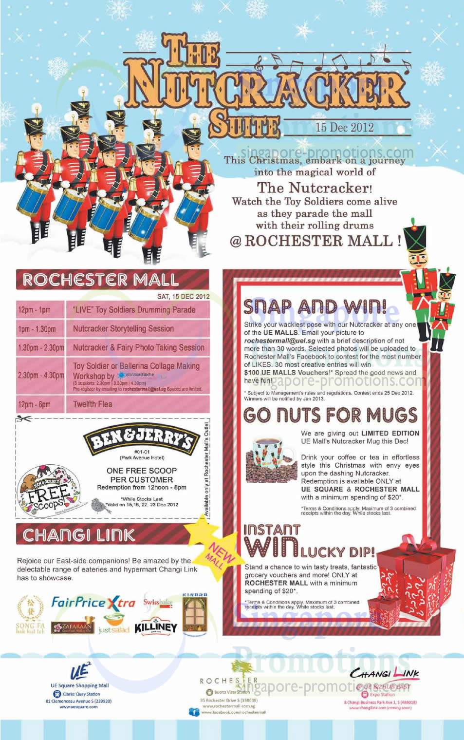 Activities, Snap n Win, Go Nuts For Mugs, Lucky Dip