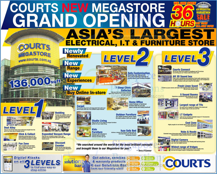 Courts New Megastore Grand Opening. Asia Largest Electrical, I.T Furniture Store