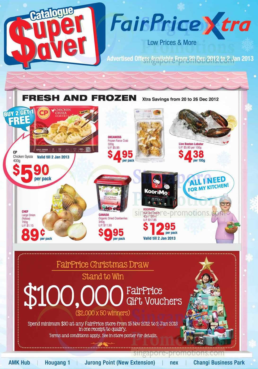 FairPrice Christmas Draw, Fresh and Frozen