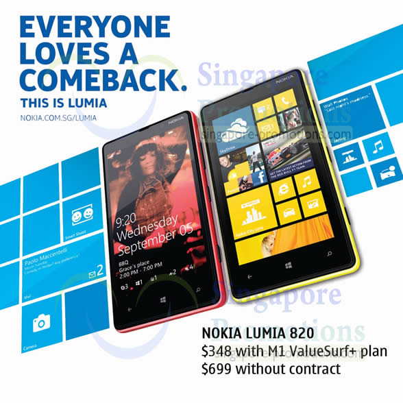 Handphone Shop, M1 Nokia Lumia 820 Offer