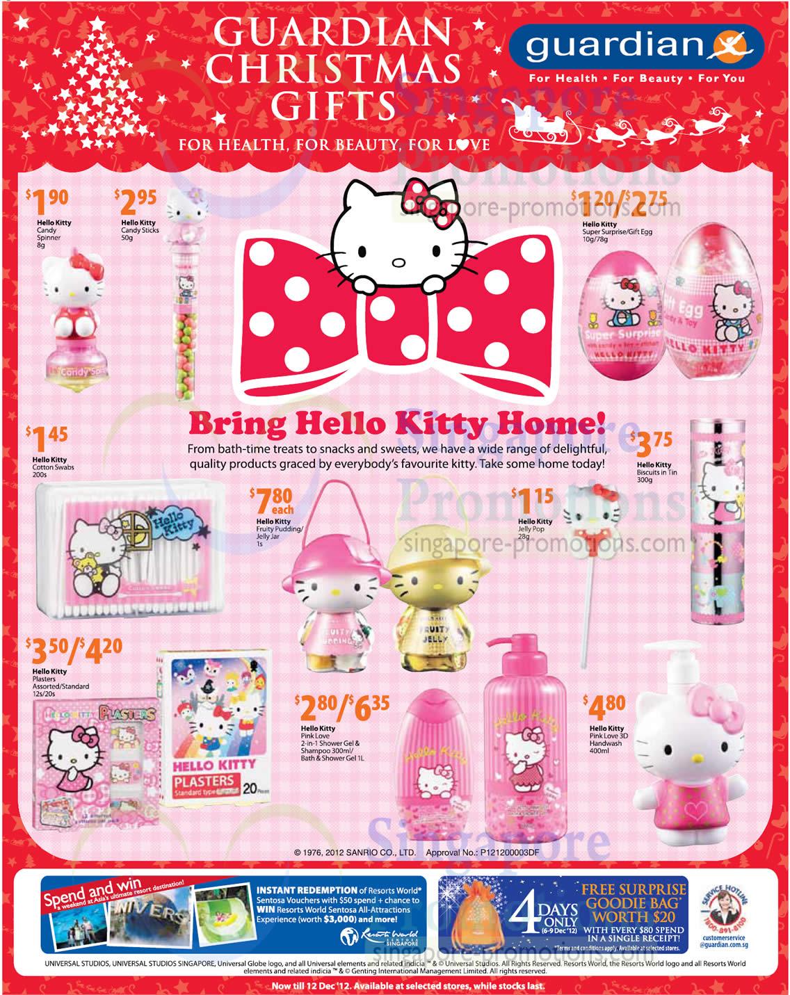 Hello Kitty Fruity Pudding, Hello Kitty Jelly Jar, Hello Kitty Bath and Shower Gel
