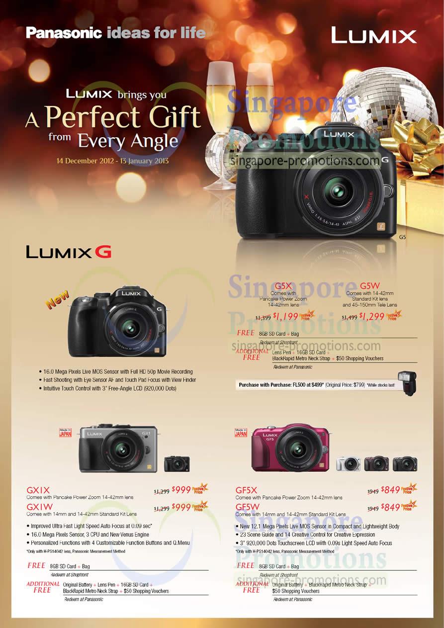 Panasonic Lumix DMC-G5X, Panasonic Lumix DMC-G5W, Panasonic Lumix DMC-GXIX, Panasonic Lumix DMC-GXIW, Panasonic Lumix DMC-GF5X, Panasonic Lumix