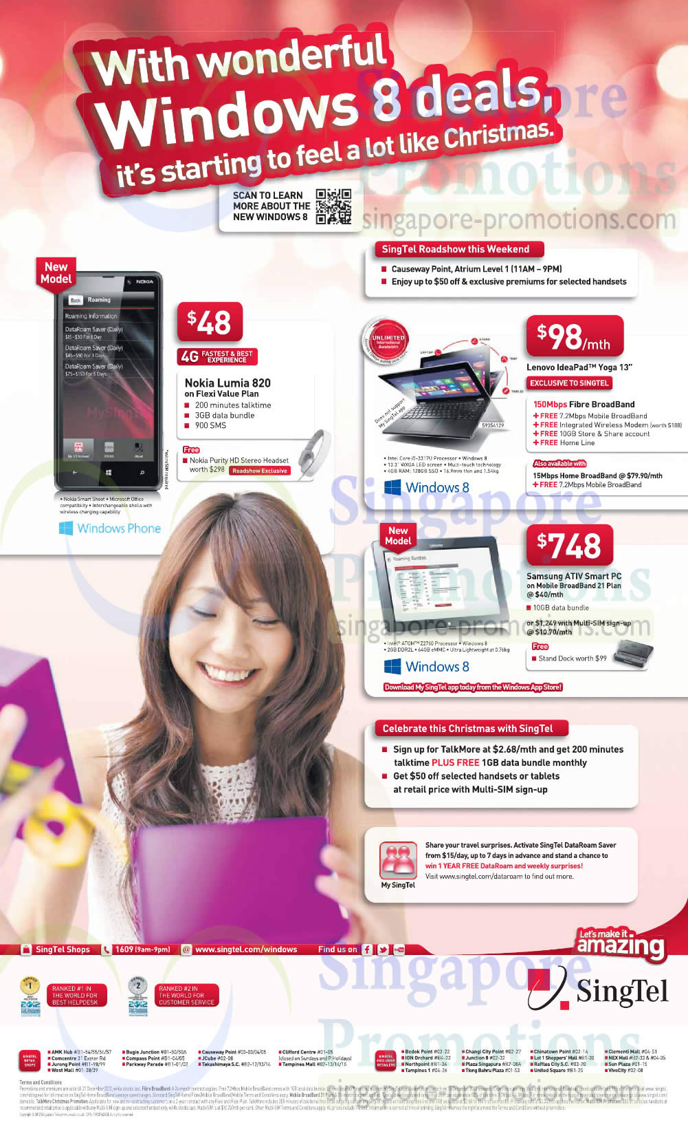 Nokia Lumia 820, Lenovo Ideapad Yoga 13, Samsung ATIV Smart PC on Mobile Broadband 21 Plan
